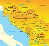 ID 3030596 | Karte von Balkan-Region | Illustration mit hoher Auflösung | CLIPARTO