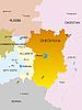 Chechenia mapa | Ilustración