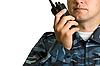 ID 3030609 | Nadajnik w ręce straży | Foto stockowe wysokiej rozdzielczości | KLIPARTO