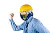 ID 3030871 | Człowiek z głową planety | Foto stockowe wysokiej rozdzielczości | KLIPARTO