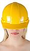 ID 3030884 | Женщина в желтом строительном шлеме | Фото большого размера | CLIPARTO