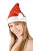 ID 3031028 | Schönes Santa-Mädchen und Schneefall | Foto mit hoher Auflösung | CLIPARTO