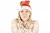 ID 3031043 | Schönes Santa-Mädchen und Schneefall | Foto mit hoher Auflösung | CLIPARTO