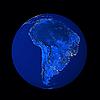 ID 3031455 | Südamerika in der Nacht | Foto mit hoher Auflösung | CLIPARTO