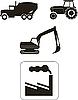 Aufbaumachinen - Icons