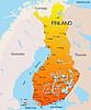 Finlandia mapa | Ilustración vectorial