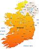 Irlanda mapa | Ilustración vectorial