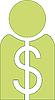 Man with green-Dollar