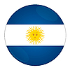Argentina button with flag | Stock Illustration