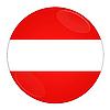 Knopf mit Flagge Österreichs | Stock Illustration
