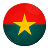 Burkina Faso - Icon mit Flagge | Stock Illustration