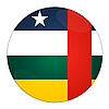 Afryka Środkowa przycisk z flagą | Stock Illustration