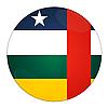 Icon mit Flagge von Zentralafrika | Stock Illustration