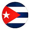 Kuba przycisk z flagą | Stock Illustration