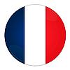 Icon mit Flagge von Frankreich | Stock Illustration