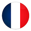 Francja przycisk z flagą | Stock Illustration