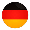 Icon mit Flagge Deutschlands | Stock Illustration
