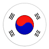ID 3032556 | Przycisk z flagą Korei Południowej | Stockowa ilustracja wysokiej rozdzielczości | KLIPARTO