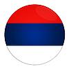 ID 3032603 | Serbien Icon mit Flagge | Illustration mit hoher Auflösung | CLIPARTO