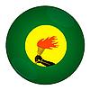 Icon mit Flagge von Zaire | Stock Illustration
