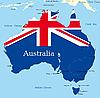 Mapa de Australia | Ilustración vectorial