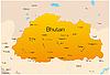 Bután | Ilustración vectorial