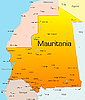 Mauritania | Ilustración vectorial