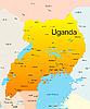 Uganda mapa | Ilustración vectorial