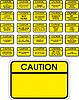 Gelbe Vorsicht-Zeichen