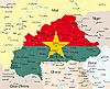 Landkarte von Burkina Faso