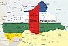 Landkarte der entralafrikanischen Republik