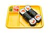 ID 3034843 | Żółty talerz z rolki sushi | Foto stockowe wysokiej rozdzielczości | KLIPARTO