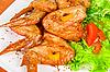 ID 3035100 | Pieczone skrzydełka z kurczaka | Foto stockowe wysokiej rozdzielczości | KLIPARTO