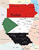 Landkarte von Sudan