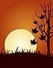 秋   向量插图