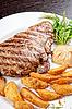 Soczysty stek wołowy | Stock Foto