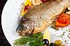 Pstrąga danie z ryb | Stock Foto