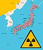 Japan und Radiationzeichen