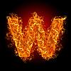 ID 3036727 | Feuer-Buchstabe W | Foto mit hoher Auflösung | CLIPARTO