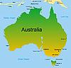 Karte von australischen Kontinent