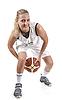 活跃的女篮球运动员 | 免版税照片
