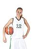 ID 3019944 | 面带微笑的女篮球运动员 | 高分辨率照片 | CLIPARTO