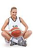 ID 3019945 | 有吸引力的篮球运动员的软微笑 | 高分辨率照片 | CLIPARTO