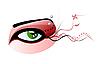 grünes Auge und durchbohrte Augenbraue
