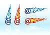 E-mail mit Flammen