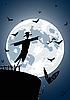 Wróble z pełni księżyca | Stock Vector Graphics