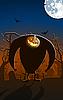 Straszny świecące Jack-O `Lantern człowiek | Stock Vector Graphics