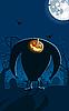 Straszny Jack-o-lantern man na grobie | Stock Vector Graphics