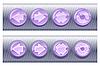 Set von Browser-Buttons