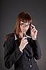 ID 3022378 | Nachdenkliche Business-Frau mit Brille | Foto mit hoher Auflösung | CLIPARTO